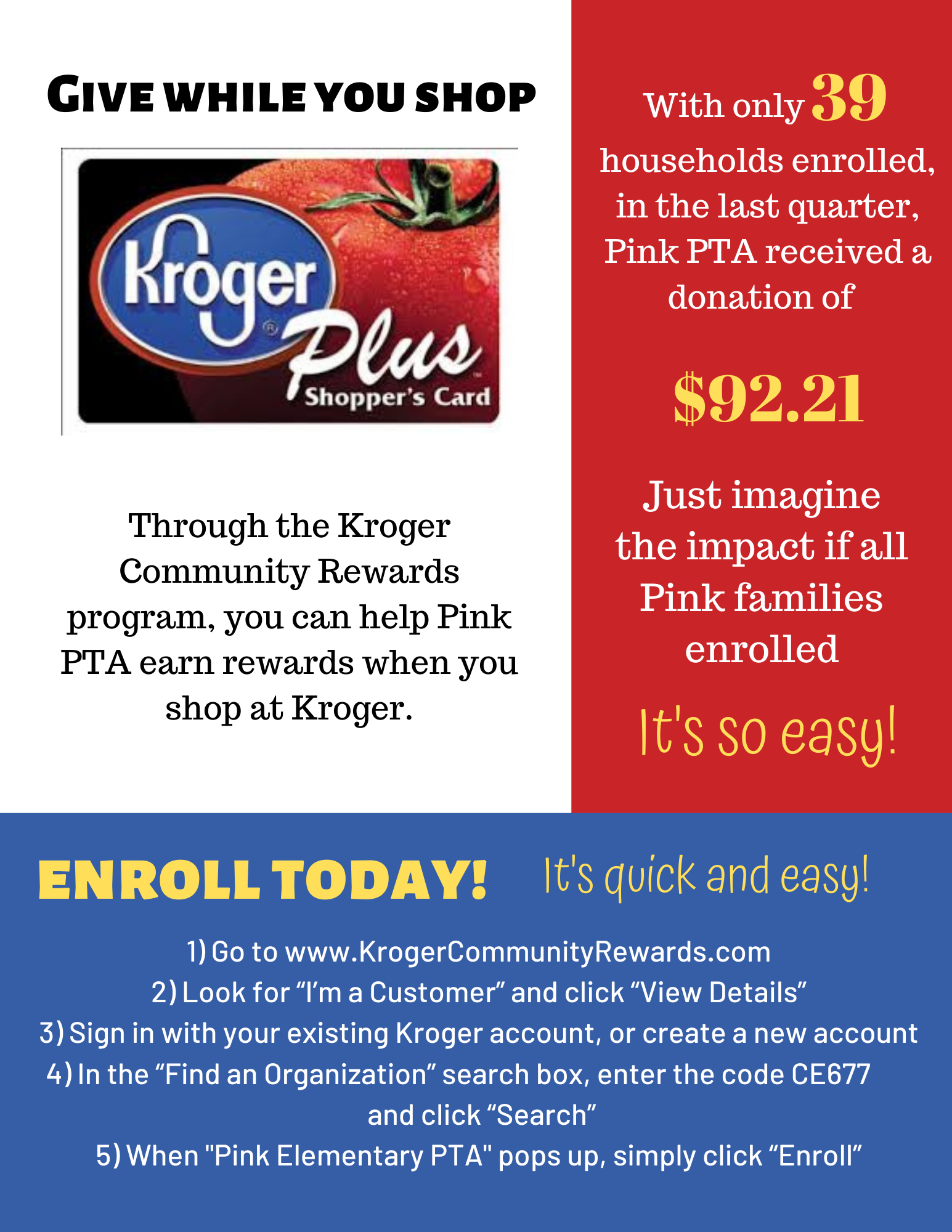 Graphic on Kroger community rewards program